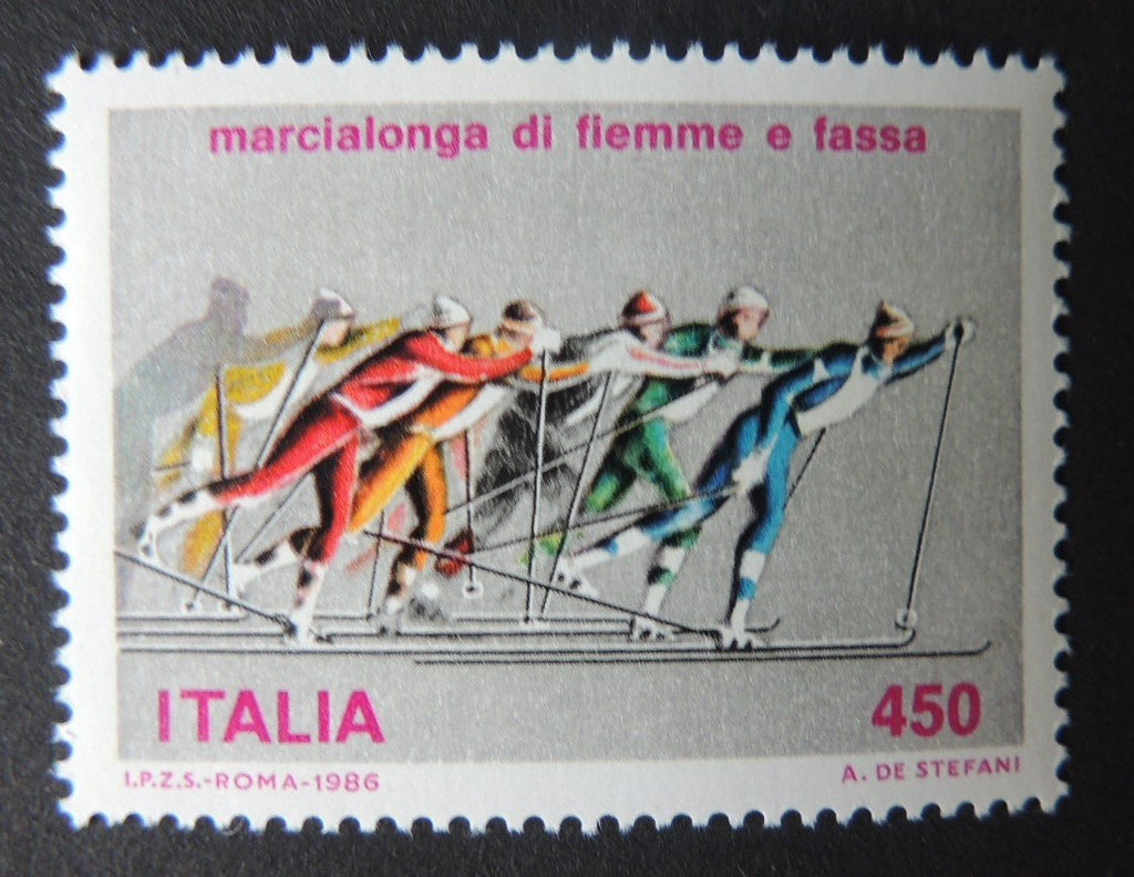 Italy 1986 sport long distance skiing 1v MNH