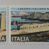 Italy 1980 ancient monuments temples philae egyptology 2v MNH