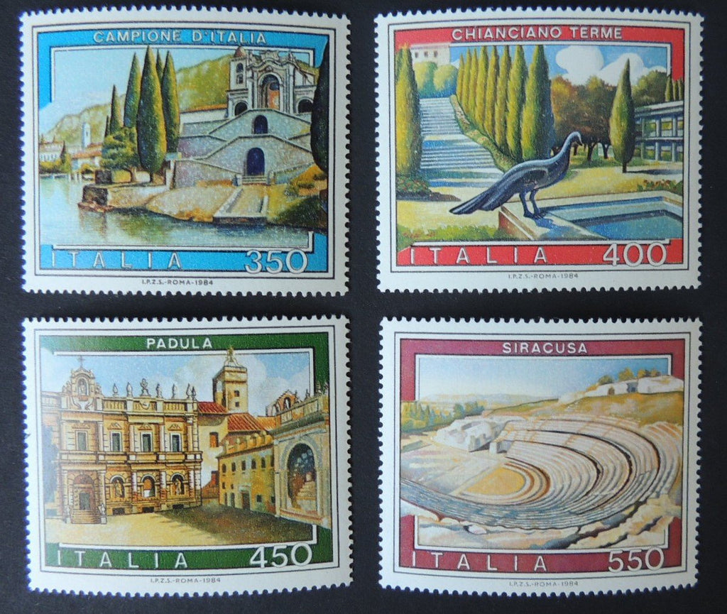 Italy 1984 tourism ancient stadium buildings 4v MNH