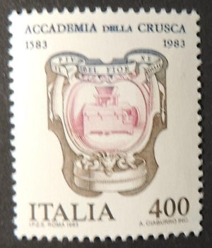 Italy 1983 400th anniversary crusca academy languages education 1v MNH