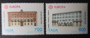 Italy 1990 europa cept post office buildings postal 2v MNH