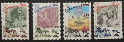 Italy 1995 cinema films movies 4v MNH