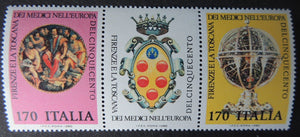 Italy 1980 Florence and Tuscany of the Medicis Armillary sphere art 2v MNH