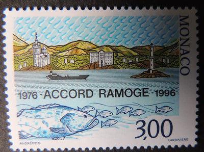 Monaco 1996 20th Anniv of Ramoge Agreement on Environmental Protection of the Mediterranean fish 1v MNH
