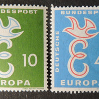 Germany 1958 europa birds humanitarian relief 2v MNH