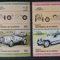 Bequia Grenadines of St Vincent 1985 cars vintage classic 8v MNH