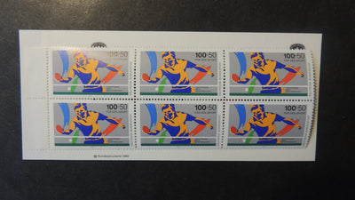 Germany 1989 sport promotion fund table tennis booklet sg2265 MNH