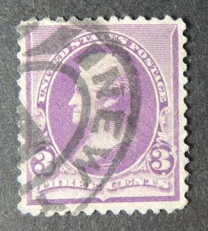 USA 1890-94 3c purple us president andrew jackson used #2