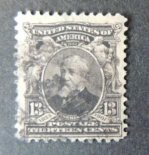 USA 5c brown us president william henry harrison used #1