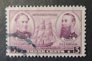 USA 1937 3c army navy farragut porter ships clippers militaria used #3