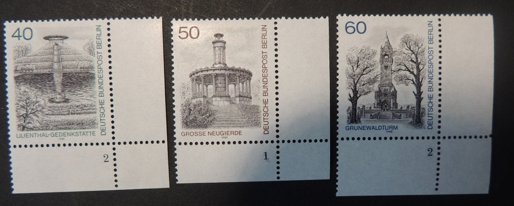 Germany Berlin 1980 views monuments towers 3v MNH