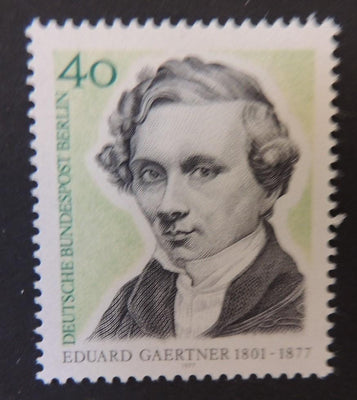 Germany Berlin 1977 eduard gaertner arts urban architecture 1v MNH