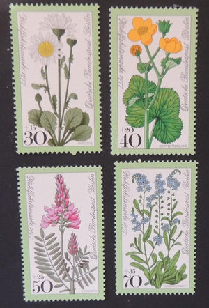 Germany Berlin 1977 humanitarian relief flowers 4v MNH