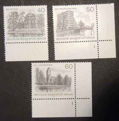 Germany Berlin 1978 views bridges churches 3v MNH
