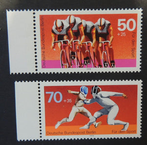 Germany Berlin 1978 sport promotion fund cycling fencing 2v MNH
