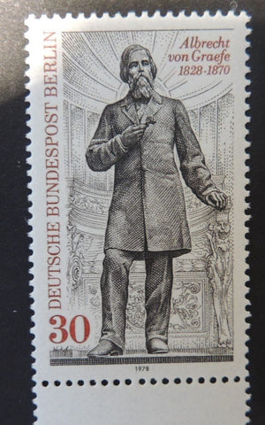 Germany Berlin 1978 150th birth anniversary albrecht von graefe ophthalmology 1v MNH