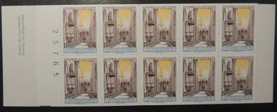 Sweden 1963 test booklet uppsala cathedral religion mnh