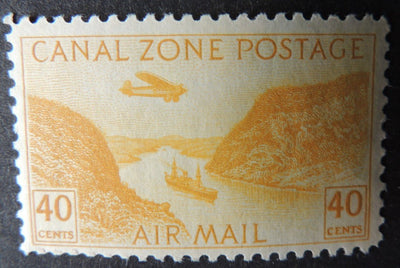 Canal Zone 1931/49 airmail 49c ships canal transport aviation mnh