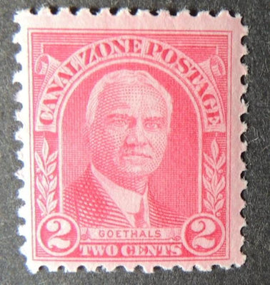 Canal Zone 1928 goethals 2c red mnh