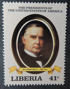 Liberia american presidents william mckinley mnh
