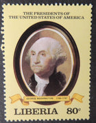 Liberia american presidents george washington mnh