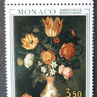 Monaco 1973 flowers paintings monte carlo flower show mnh