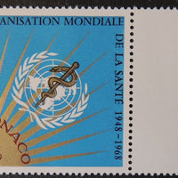 Monaco 1968 WHO world health organisation un mnh