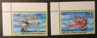 Guinea 2002 fighter aircraft aviation sopwith camel fokker dr-1 ww1 ww2 mnh