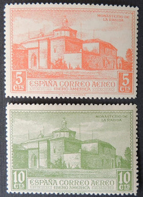 Spain 1930 monastery la rabida 5c and 10c religion churches MNH