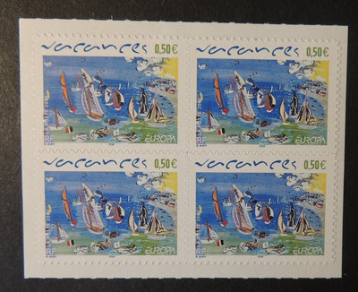 France 2004 vacation holidays europa cept self-adhesive block of 4 MNH