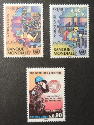 United Nations Geneva 1989 world bank + peace keeping MNH