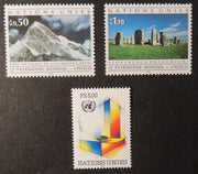 United Nations Geneva 1992 unesco mountains MNH