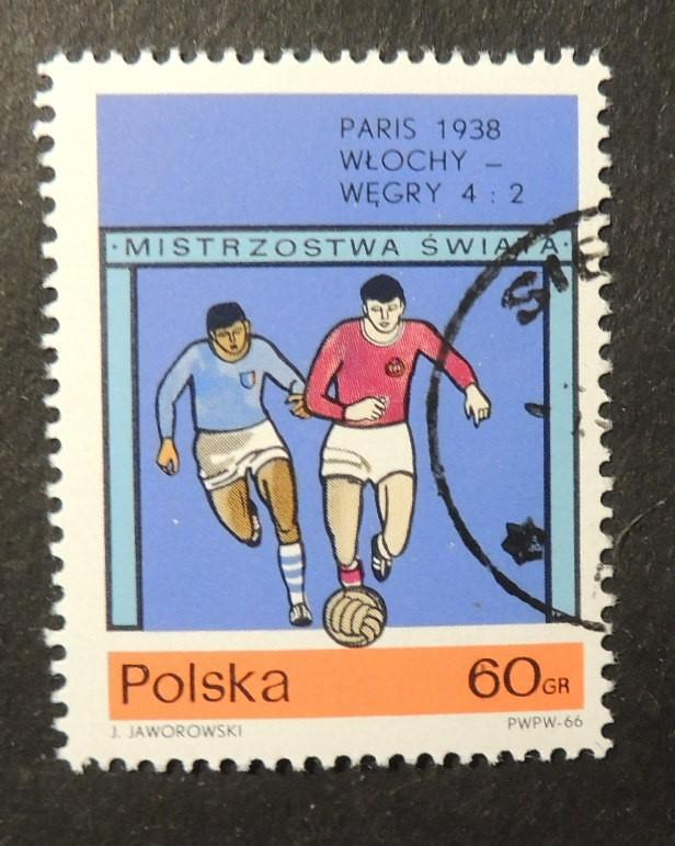 Poland 1966 world cup football finals 1938 italy 4 hungary 2 fine used