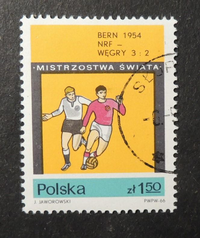 Poland 1966 world cup football finals 1954 west germany 3 hungary 2 fine used