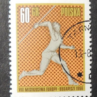 Poland 1966 8th european athletics championships sport javelin fine used