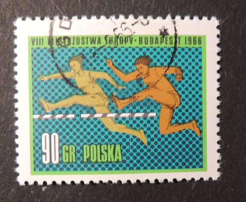 Poland 1966 8th european athletics championships sport hurdles fine used