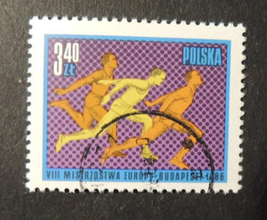 Poland 1966 8th european athletics championships sport sprinting fine used