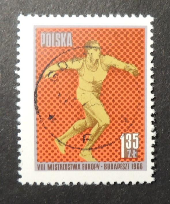 Poland 1966 8th european athletics championships sport discus fine used
