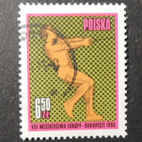 Poland 1966 8th european athletics championships sport hammer fine used