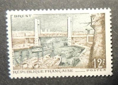 France 1957 tourism port of brest views bridges sg1344 mnh