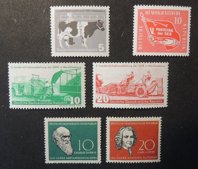 Germany DDR 1958 agriculture party conference darwin linne mnh