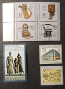 Germany DDR 1989 telephones war victims ravensbrueck statues ww2 wwii leipzig spring fair architecture mnh