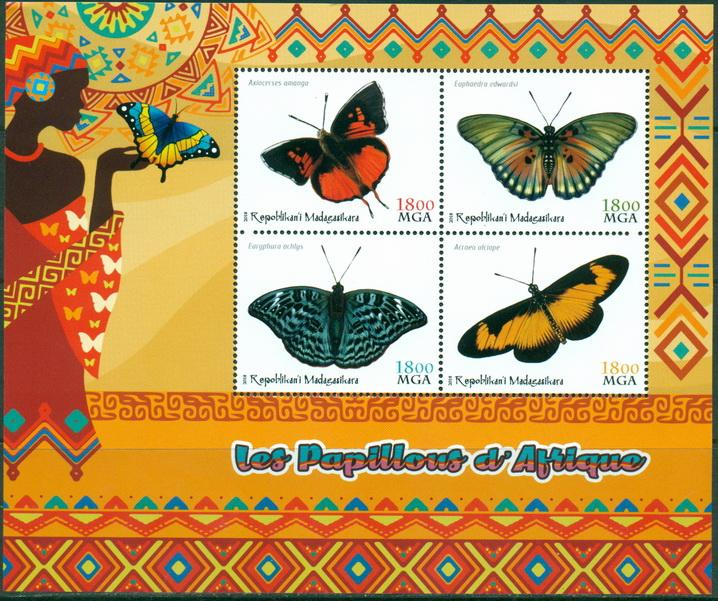 Madagascar 2018 - Butterflies Of Africa Miniature Sheet Set Of 4 Values