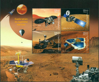 Madagascar 2018 - Exploration Of Planet Mars Miniature Sheet Set Of 4 Values