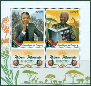 Congo 2018 Nelson Mandela Miniature Sheet Set Of 2 Values