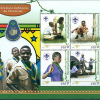 Gabon 2016 Scout Federation Miniature Sheet Set Of 4 Values