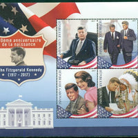 Gabon 2017 100Th Anniversary Birth Jf Kennedy Miniature Sheet Set Of 4 Values