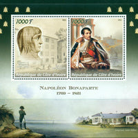 Ivory Coast 2016 Napoleon Miniature Sheet Set Of 2 Values