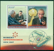 Ivory Coast 2016 Robert Oppenheimer Miniature Sheet Set Of 2 Values