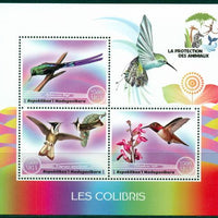 Madagascar 2017 Animal Protection Humming Birds Miniature Sheet Set Of 3 Values